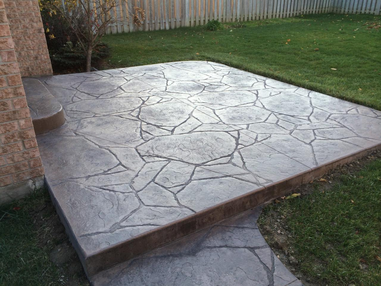 ... Arizona Flagstone Stamped Concrete Patio In London Ontario ...