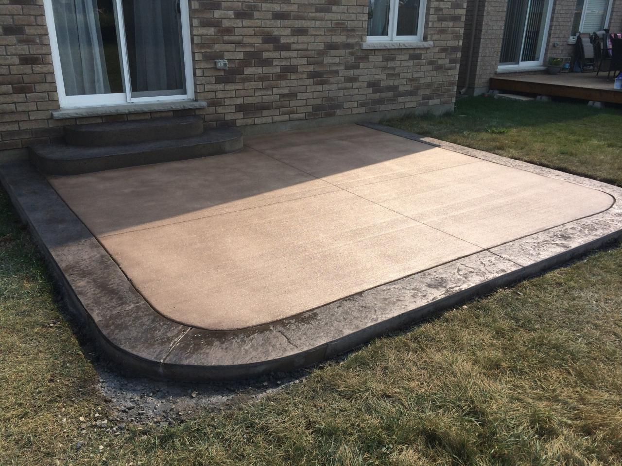 ... Broom Finished Concrete Patio With Rough Cut Border In London Ontario  ...